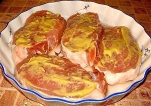 Горчица делает мясо нежным